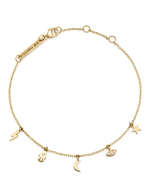 Zoe Chicco 14K Yellow Gold Itty Bitty Celestial Charms Bracelet with Diamonds-Jewelry & Accessories
