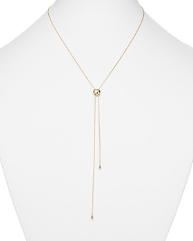 Zoë Chicco - 14K Yellow Gold Bolo Lariat Necklace with Diamond, 30""