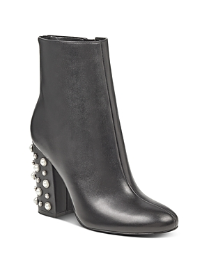 Ivanka Trump Telora Embellished High Block Heel Booties