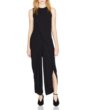 Halston Heritage Draped Ruffled Jumpsuit