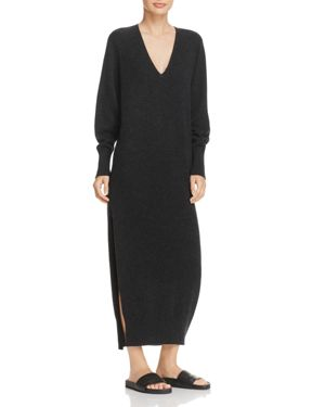 Vince Wool & Cashmere Side Slit Dress