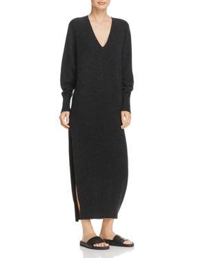 Vince Wool & Cashmere Side Slit Dress