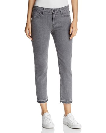 Parker Smith - Crop Released-Hem Straight Jeans in Chrome