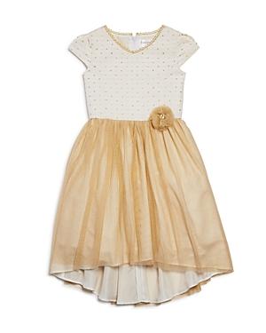 Us Angels Girls MetallicTulle Dress  Little Kid