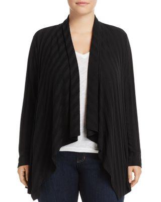 B COLLECTION BY BOBEAU CURVY Simone Rib-Knit Cardigan, Plus Size in Black