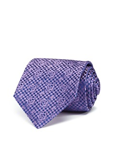 Turnbull & Asser Houndstooth Rose Classic Tie - Bloomingdale's_0
