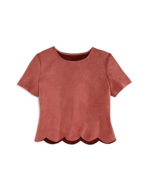Aqua Girls' Faux-Suede Top, Big Kid - 100% Exclusive