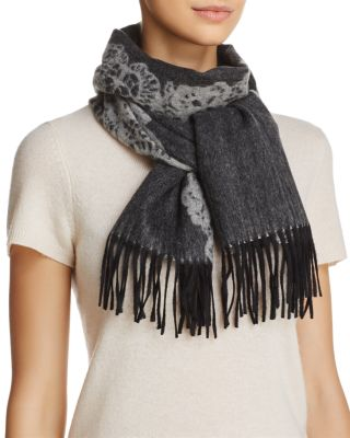 C By Bloomingdale's C BY BLOOMINGDALE'S LACE CASHMERE SCARF - 100% EXCLUSIVE