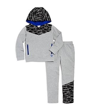 Armani Junior Boys Geo Hoodie  Sweatpants Set  Big Kid