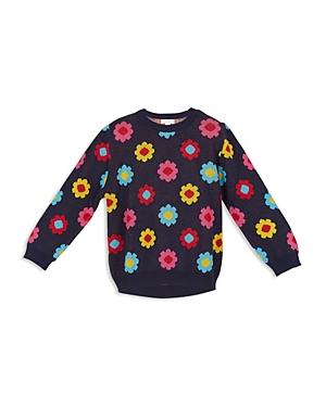 Margherita Kids Girls Daisy Intarsia Sweater  Little Kid