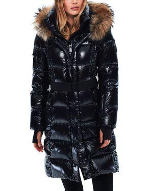 Sam. Infinity Fur Trim Down Coat