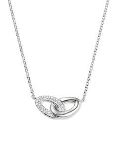 IPPOLITA - Sterling Silver Cherish Interlocking Diamond Link Necklace, 16""