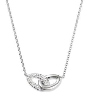 Ippolita Sterling Silver Cherish Interlocking Diamond Link Necklace, 16
