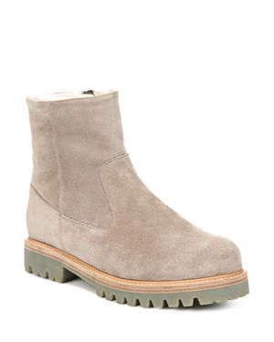Vince Women's Frances Suede and Shearling Booties