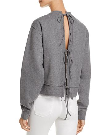 T by Alexander Wang - French Terry Tie-Back Sweatshirt
