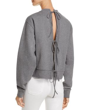 T by Alexander Wang French Terry Tie-Back Sweatshirt
