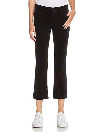 J Brand - Selena Velvet Crop Bootcut Jeans in Black