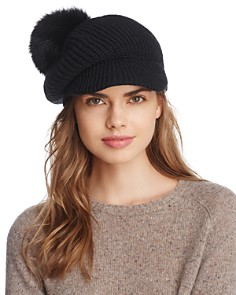Echo Fox Fur Pom Gibson Girl Hat - Bloomingdale's_0