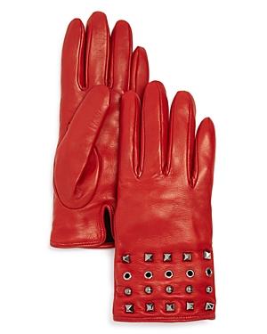 Bloomingdale's Grommet & Stud Leather Gloves - 100% Exclusive