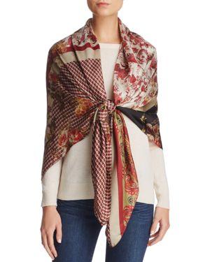 Larioseta Floral Patchwork Silk Scarf