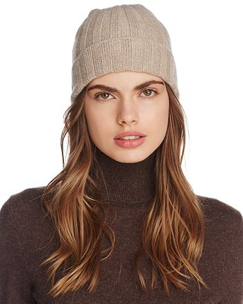 C by Bloomingdale's - Ribbed Cashmere Cuff Hat - 100% Exclusive