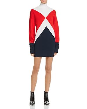 Tommyxgigi Graphic Mock-Neck Sweater Dress
