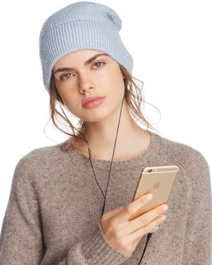 Rebecca Minkoff Beanie with Built-In Headphones - 100% Exclusive