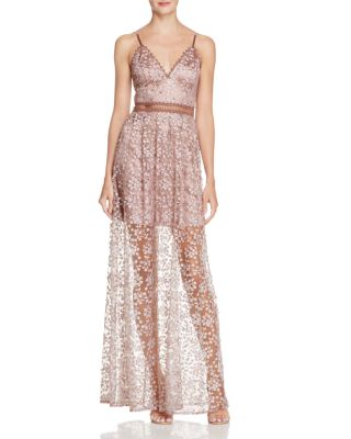 pearl pink maxi dress