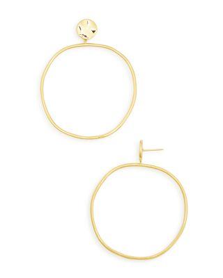 Gorjana Chloe Drop Hoop Earrings 9o2htaoQb5