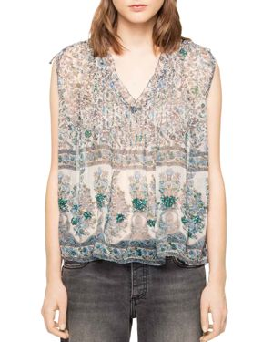Zadig & Voltaire Thym Printed Chiffon Top