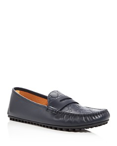 Gucci - Men's New Kanye Embossed Leather Penny Loafers