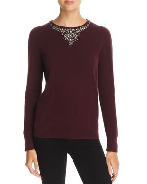 C by Bloomingdale's Embellished Cashmere Sweater - 100% Exclusive
