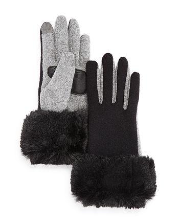 Echo - Faux Fur Cuff Tech Gloves