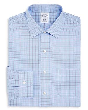 Brooks Brothers Overcheck Regular Fit Dress Shirt