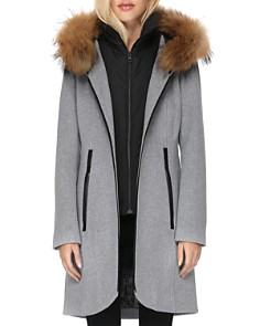 Soia & Kyo - Charlena Fur Trim Coat - 100% Exclusive