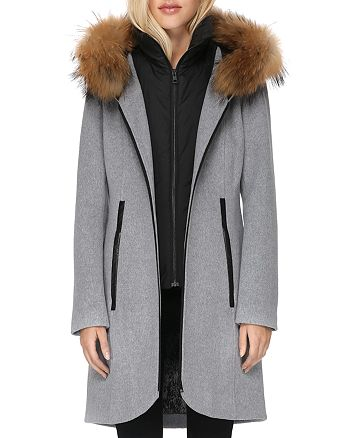 Soia & Kyo - Charlena Fur Trim Coat - 100% Exclusive