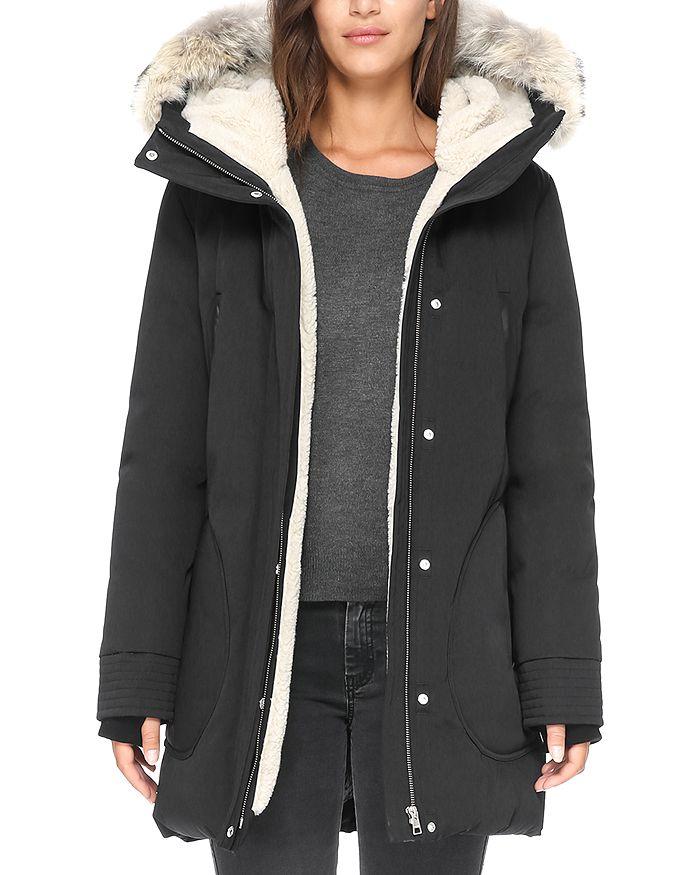 Soia & Kyo - Saundra Fur Trim Hooded Down Coat