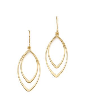 Bloomingdale's 14K Yellow Gold Double Marquise Drop Earrings - 100% Exclusive