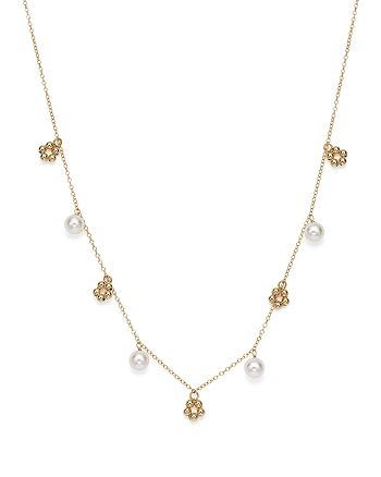 """Bloomingdale's - Cultured Freshwater Pearl and Beaded Cluster Necklace in 14K Yellow Gold, 18"""" - 100% Exclusive"""