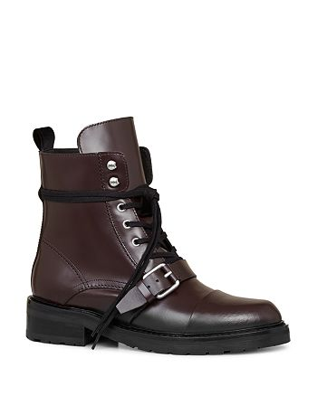 ALLSAINTS - Women's Donita Leather Lace Up Combat Boots
