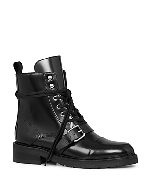 Allsaints Women's Donita Leather Lace Up Combat Boots