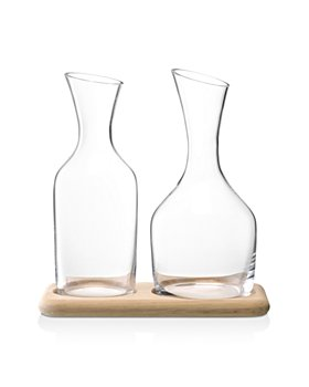 LSA - Wine Water and Carafe Set with Oak Base