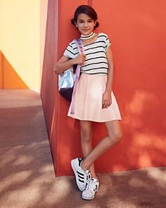AQUA - Girls' Striped Choker Tee, Big Kid - 100% Exclusive