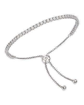 Bloomingdale's - Diamond Tennis Bolo Bracelet in 14K White Gold, 2.50 ct. t.w. - 100% Exclusive