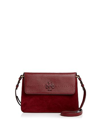 a5585484506b7 Tory Burch - McGraw Leather   Suede Shoulder Bag