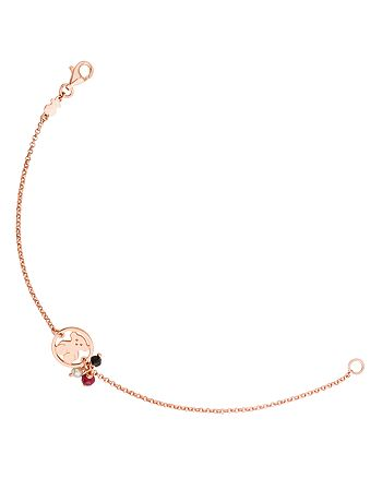 TOUS - Camille Bear Charm Bracelet with Onyx, Ruby & Cultured Freshwater Pearl Charms