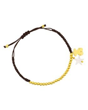 TOUS - Mother-of-Pearl Star & Bear Charm Beaded Cord Bracelet