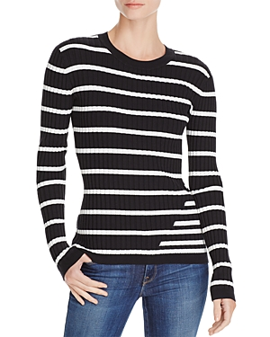T by Alexander Wang Fitted Striped Sweater