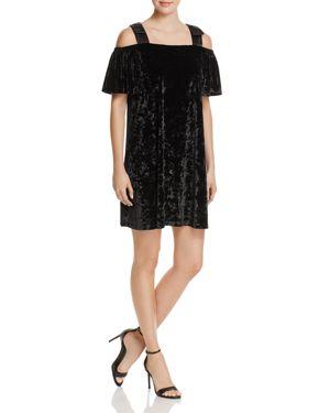 nanette Nanette Lepore Cold-Shoulder Velvet Dress