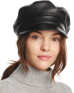Eric Javits Night Porter Leather Cap